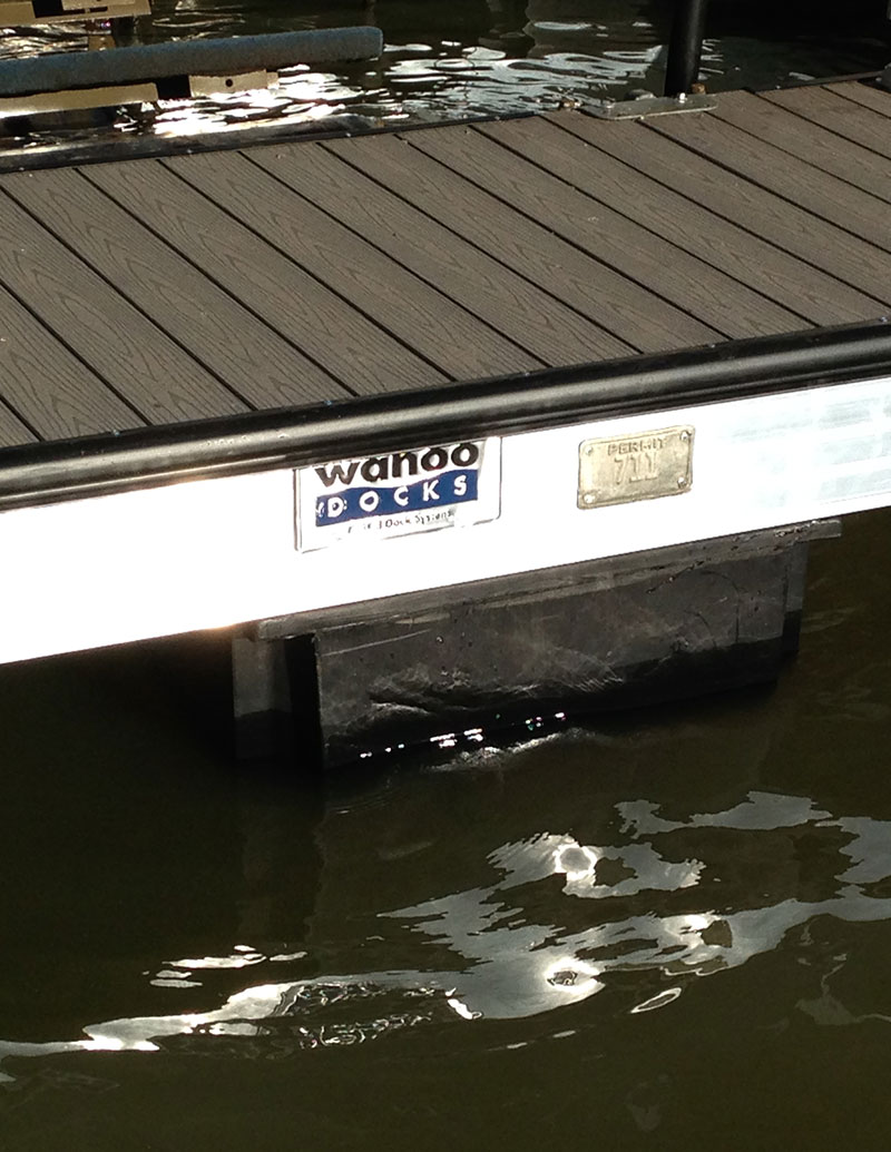 Boat dock decking close up of wooden deck by wahoo