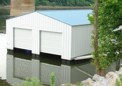 Large Boathouse for TWRA Metro with two garage doors
